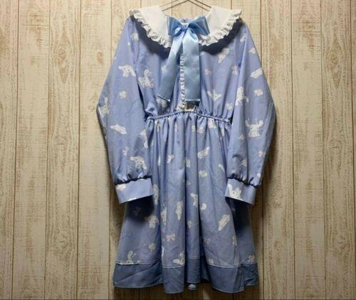 Sanrio Cinnamoroll Collar Dress Blue Size M Kawaii Brand New