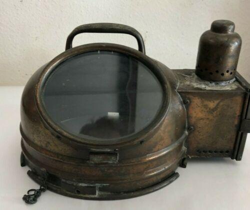 Antique Ship Binnacle Compass Cover Only Brass Nautical Maritime