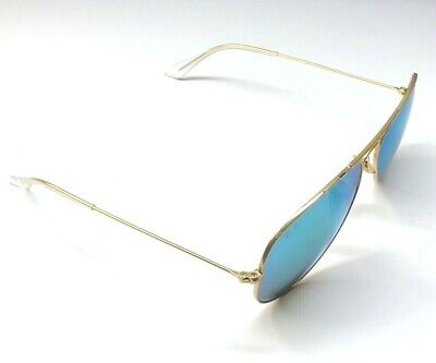 Ray Ban Italy R RB 6025 58[]14 3N Gold Aviator Sunglasses 21D
