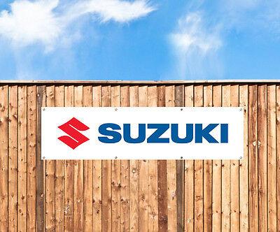 SUZUKI MOTOCYCLE  - PVC BANNER - WORKSHOP, GARAGE & BEDROOM