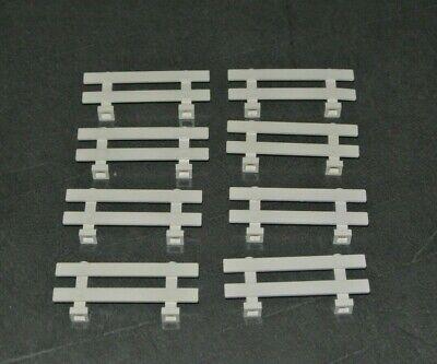 LEGO: Bundle 8x Barrier Fence 1 x 8 x 2 - Ref 6079 White - Set 6419 3189 6418