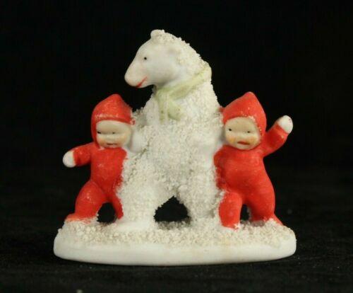 Bisque Santa Red Elf & Bear GERMANY Christmas SNOW BABY German Snowbabies