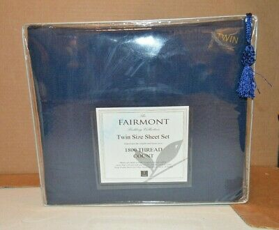 Twin Size 3 Piece Fitted Bed Sheet Set Luxury 1800 Thread Count by Fairmont ()