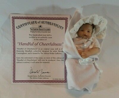 The Ashton Drake Galleries Handful of Cheerfulness Shamrock Baby Doll COA