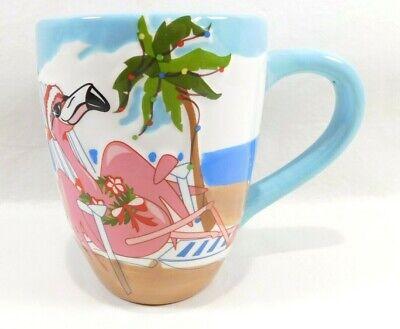 Flamingo Christmas Coffee Mug -  Brighten the Season - BDSRCO - 2007
