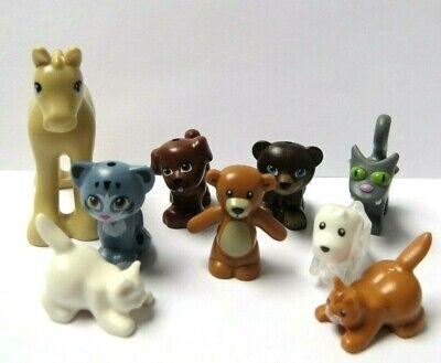Lego 9 Minifigure Animal Pet Horse Foal  Dog Puppy Cat Kitten Bear Teddy