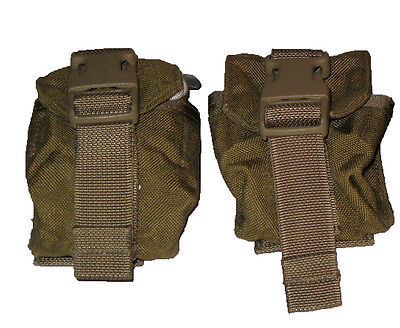 LOT OF 2 NEW Marines Army Surplus MOLLE Coyote Frag Grenade Utility Pouch - Molle Grenade Pouch