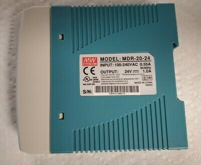 Mean Well Mdr-20-24 Ac To Dc Din Rail Power Supply