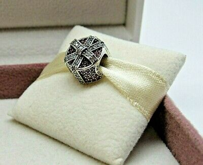 New w/Box Pandora Shimmering Gift CZ RETIRED Charm #792006CZR Christmas Present