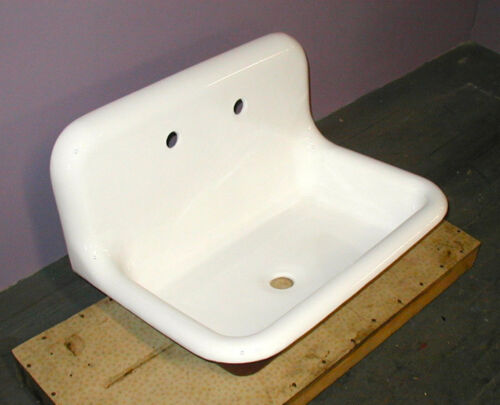 Vintage Cast Iron Sanitary Sink for Kitchen, Bath or Laundry - Refinished