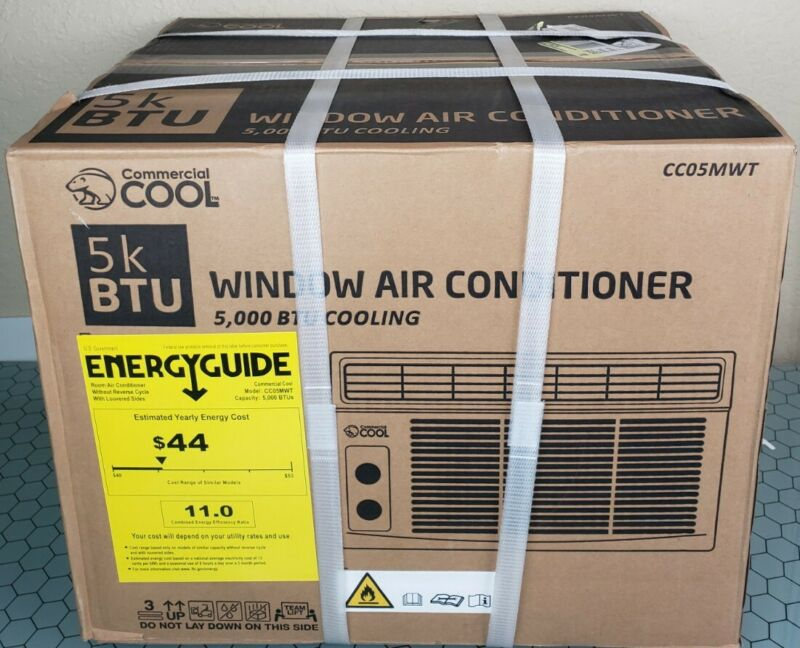 Commercial Cool 5000 BTU 115-Volt Small Room Window Air Conditioner