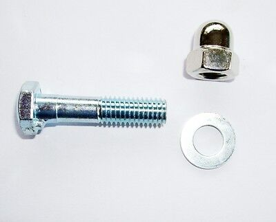 KIDS BIKE SEAT CLAMP BOLT WITH CHROME DOMED NUT,  FREE UK DEL !!