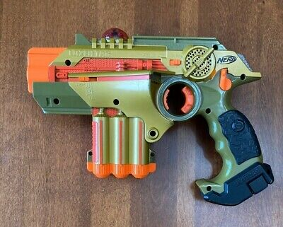 Nerf Phoenix LTX Lazer Tag Gun Gold - Tested Working