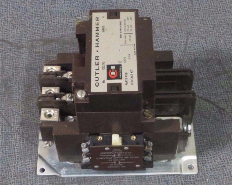 CUTLER HAMMER CONTACTOR 120 AMP, 3 PH, 600 V WITH 480V COIL MODEL: C32JN3