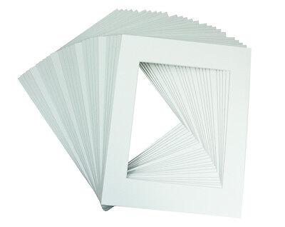 Set of 50 11x14 White Mats Mattes Matting for 8x10 + backing + bags