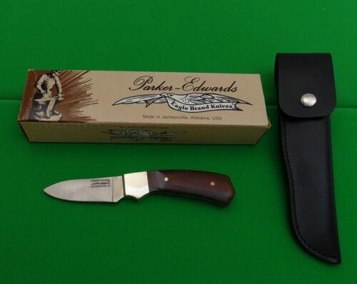 KOS009  Vintage Parker Edwards Model A018P Fixed Blade Knife & Sheath