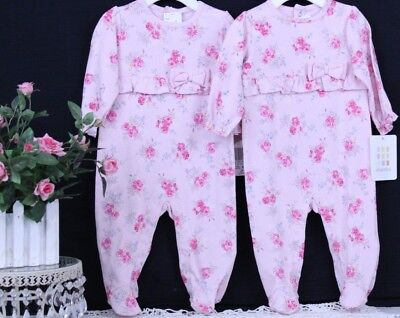 absorba One Piece Romper 3-6 Mos. NWT Pink Floral J-51 R