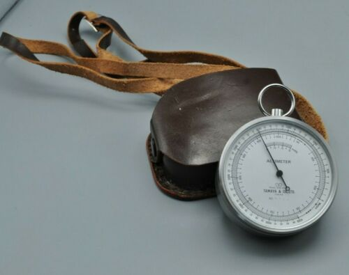 Vintage Tamaya & Co Japanese Altimeter Navigation Rare With Pouch Free Shipping