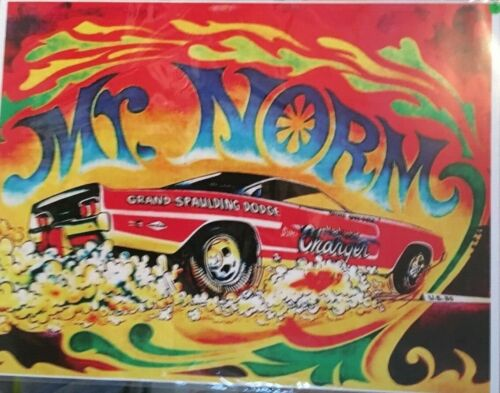"""Mr. Norms Grand Spaulding Dodge 1968 Charger 24""""X32"""" Poster."""
