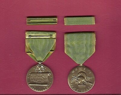 WWII Women's Army Corps medal with ribbon bar WAC
