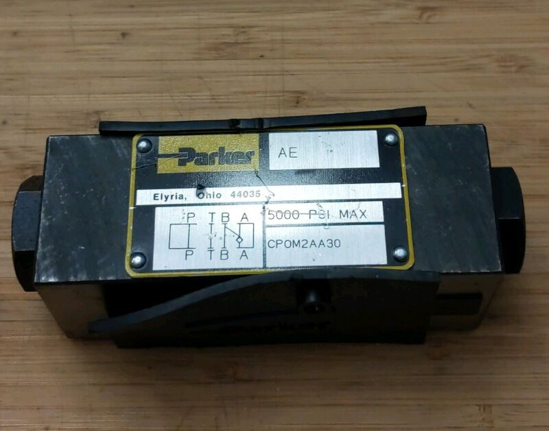 NEW Parker Hydraulic Pilot Operated Check Valve CPOM2AA30 5000 PSI **USA MADE**