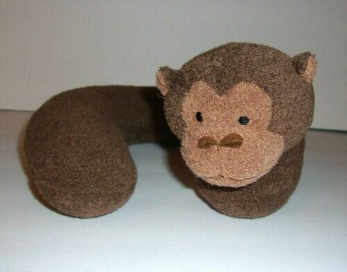 "Gold Bug Plush Neck Pillow Brown Monkey Travel Baby Infant 8""x8"""