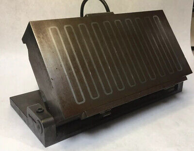 Vintage 6 X 12 Magnetic Chuck Compound Sine Plate 110 Dc Volts 50 Watts.