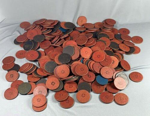Large LOT Vtg Poker Gaming Chips Red Black