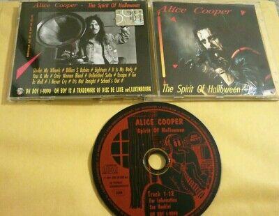 ALICE COOPER - The spirit of Halloween Cd mega rare Hard rock Live in Saginaw 78