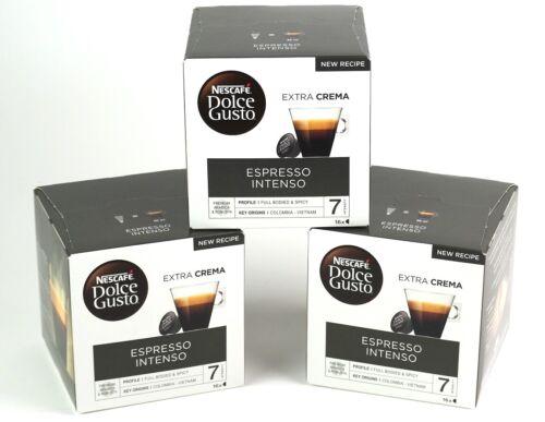 Nescafe Kaffeekapseln, Dolce Gusto Espresso Intenso, 3 Packungen MHD 02/20