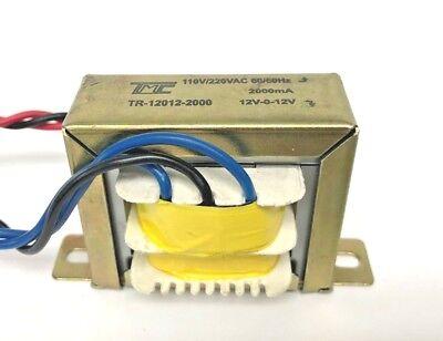 12v Transformer 12v-0-12v Ct 2amp 2000ma 110220v To 12vac 24vac True Amp