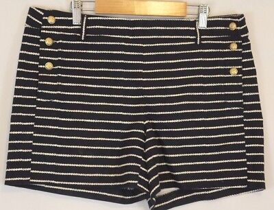 Cynthia Rowley Shorts Womens 8 Blue Nautical Sailor Buttons EUC