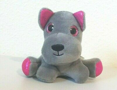 Dog Teddy Bear (Beverly Hills Teddy Bear Co. Suprizamals Puppy Dog Gray & Pink Stuffed Plush)