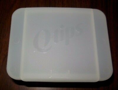Unilever Q Tip White Plastic Cotton Swabs Holder   Cosmetic Storage   3 Per Box