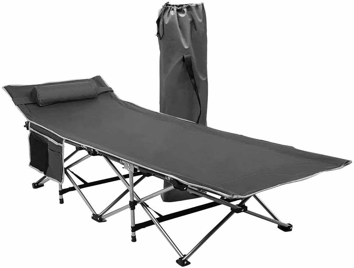Zone Tech Outdoor Travel Cot Gray Portable Foldable Camping Hiking Tent BeachBed