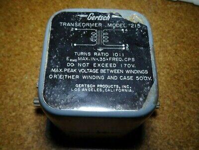 Gertsch 215 Transformer Ratio 101