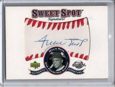 WILLIE MAYS AUTO 2001 UD UPPER DECK SWEET SPOT SIGNATURE BALL AUTOGRAPH SP -