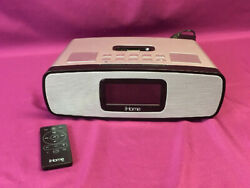 iHome iA90 Dual Alarm Clock Radio Stereo iPhone / iPod Docking Station w/ Remote