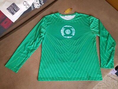Shirt Karneval Herren Green Lantern 52/54 - Herren Green Lantern Kostüm