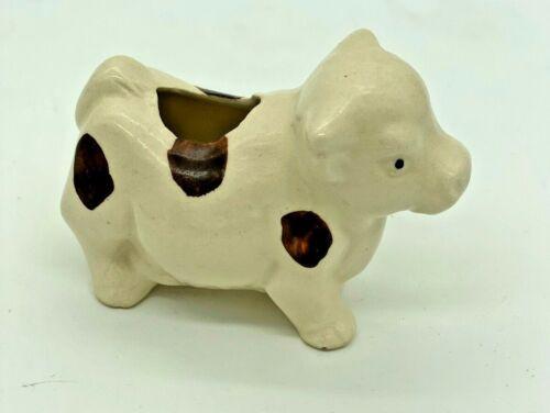 Vintage Spotted Cow Toothpick Holder Japan