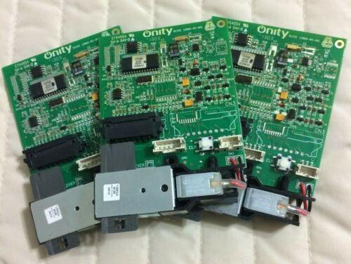 3X ONITY TESA HT24, ELECTRONIC LOCK MOTHERBOARD, RH100-163, ANTI-THEFT ANTI-HACK