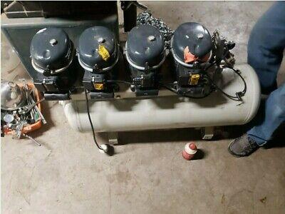 Sil-air 200-100 4 X 12 Hp 230 Volt Single Phase 26 Gallon Silent Air Compressor