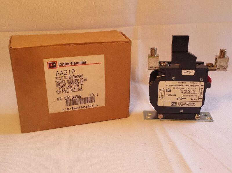 Eaton, Cutler Hammer  AA21P Thermal Overload Relay, 1 Pole, Nema Size 2