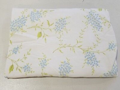 (Vintage Bed Sheet Twin Size Flat Cottage Shabby Chic Style Floral Classic Stone )