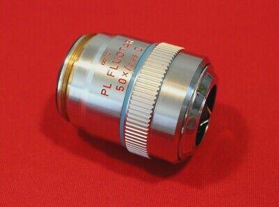 Leitz Wetzlar 567017pl Fluotar 50x D Microscope Objective