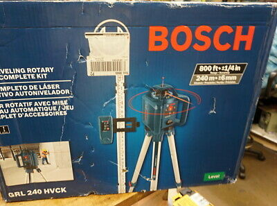 Bosch Grl240hvck 800 Ft. Self Leveling Rotary Laser Level Kit W Carrying Case