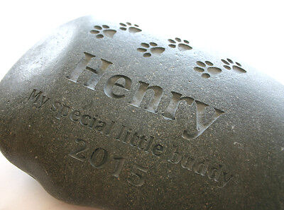 Dog Cat Pet Memorial Custom Engraved Memorial Stone Pet Loss Personalized