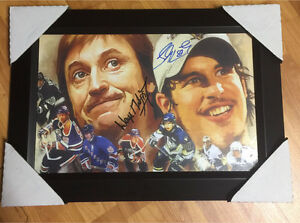 Autographed Wayne Gretzky and Sidney Crosby Picture