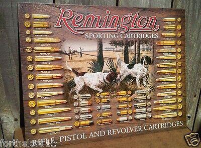 REMINGTON BULLET BOARD Tin Metal Sign Wall Garage Classic Shop Vintage Bar Decor
