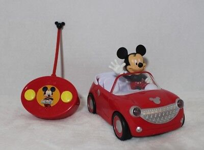 Disney Junior Mickey Mouse Roadster Car RC Remote Control Toy Vehicle Red Car](Mickey Mouse Remote Control Car)